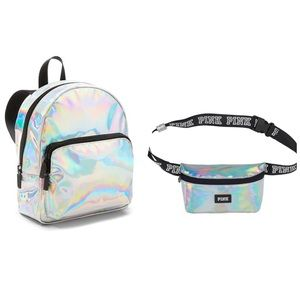 VS PINK METALLIC MICRO BACKPACK & FANNY PACK NEW